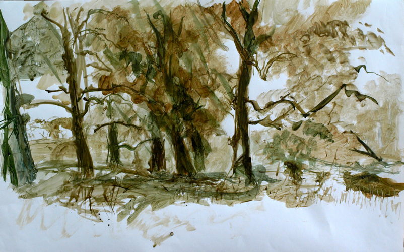 En plein air brush Drawing